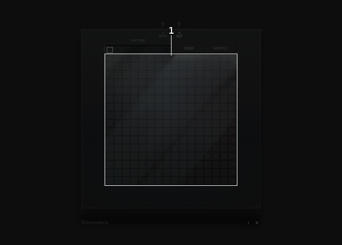 Tonematrix sequencing grid section