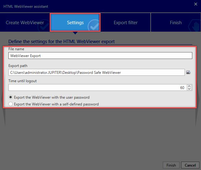 HTML WebViewer export - Password Safe V8 - 8 8 0