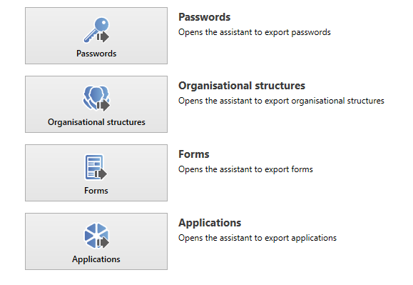 Export wizard - Password Safe V8 - 8 7 0