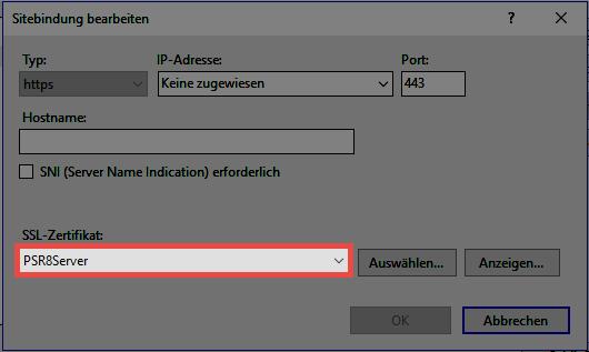 Installation WebClient - Password Safe V8 - 8.6.0