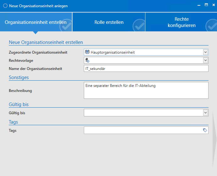 Organisationsstruktur - Password Safe V8 - 8.6.0