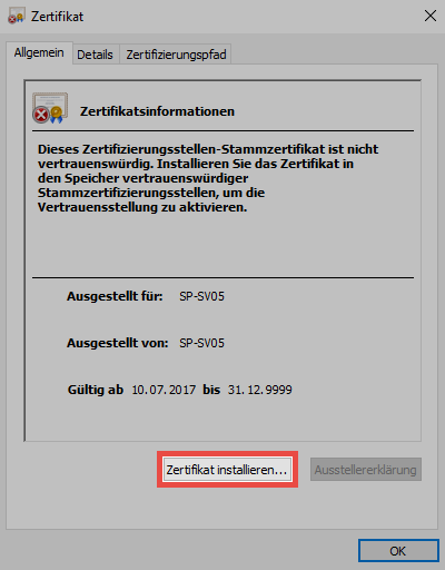 SSL Verbindungszertifikate - Password Safe V8 - 8.5.0