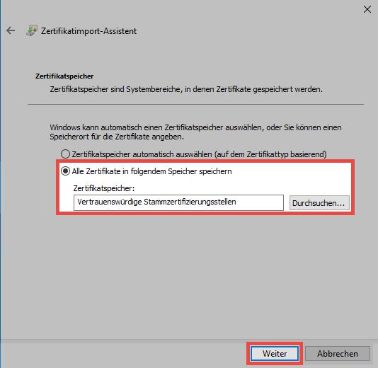 SSL Verbindungszertifikate - Password Safe V8 - 8.5.0