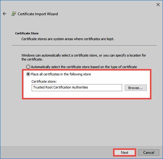 SSL connection certificates - Password Safe V8 - 8 8 0