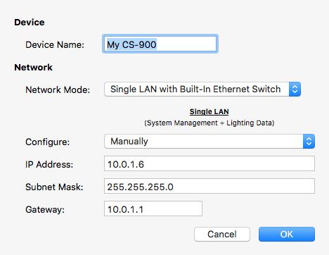 Setting Network Parameters - CueServer 2 User's Manual