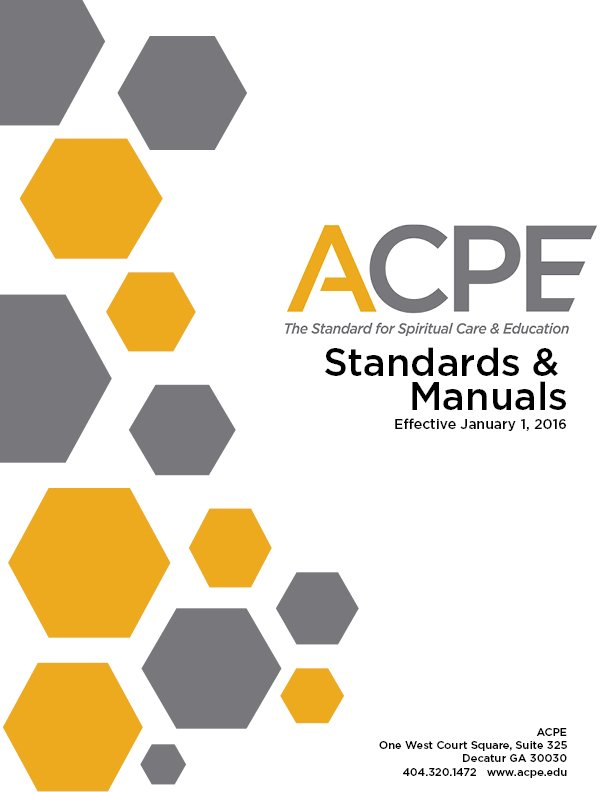 Cover Page Acpe Manuals 2016