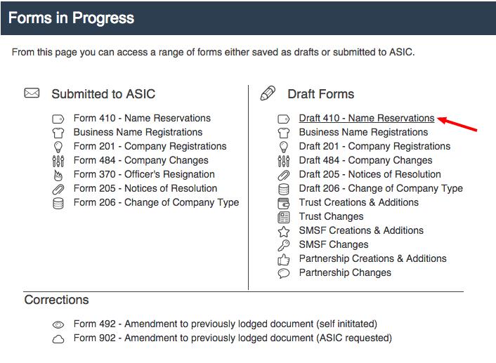 Draft Forms - www.CompanyIQ.com.au User Guide - 1.00