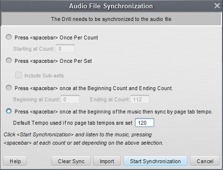 Sync Music to Drill - Pyware 3D User Guide - 9 0