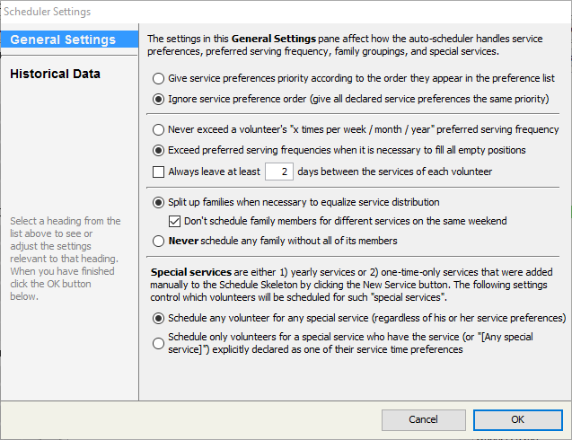 By Choosing Scheduler Settings From The Schedule Menu You May Access A Dialog That Contains Number Of Affect Behavior