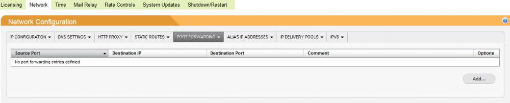 Port Forwarding - SpamTitan Administrator Guide - 1