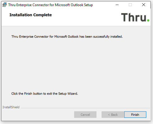 Installing the Thru Add-In (Connector) for Outlook  - User