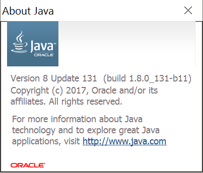 Checking currently installed Java version - User Guide - Open