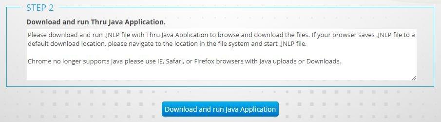 Thru Java Application download - User Guide - Open