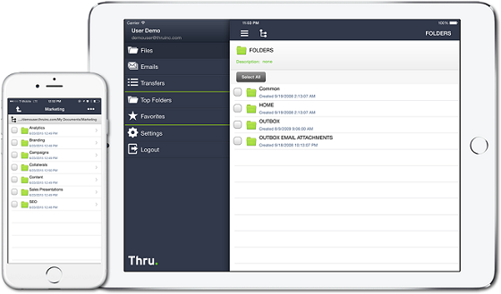 Using Thru for iPhone and iPad - User Guide - Open