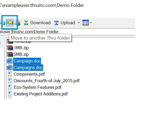 Moving Files/Folders in Thru Explorer - User Guide - Open