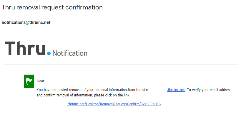 removal email address