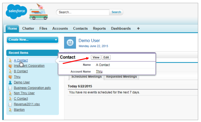 salesforce how to add principal contact in an opportunity field