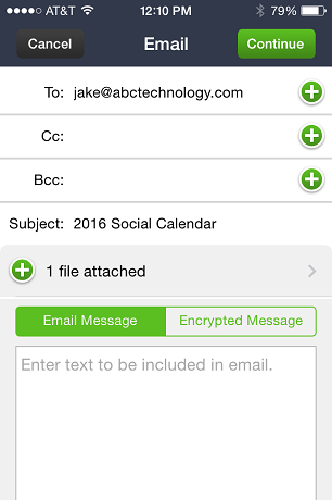 how to send videos thru e-mail