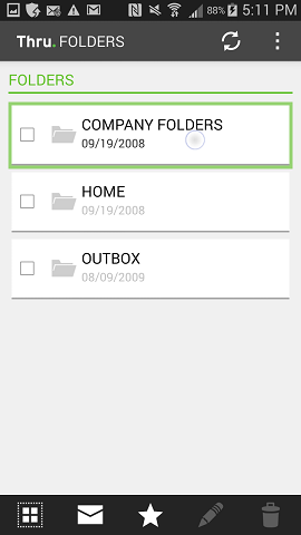 Navigating Files and Folders – Thru for Android - User Guide