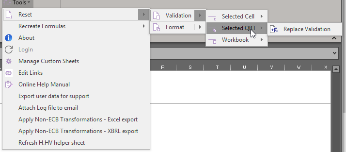 how to reset excel sheet