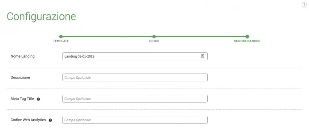Configurazione-Landing-Page