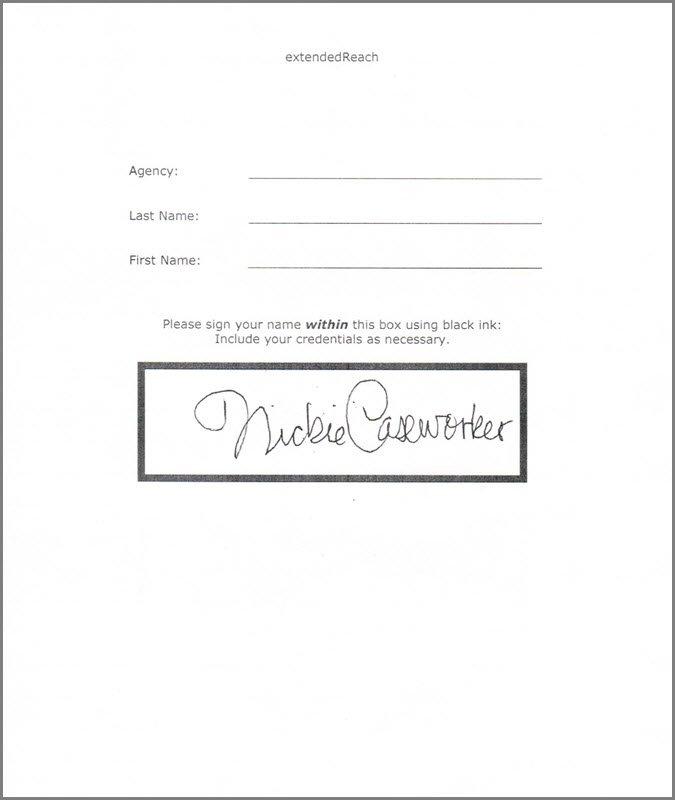 Adding a Staff Signature - extendedReach Foster Care Help - 1
