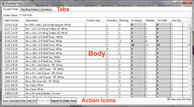 order via inventory tool livestorage 1