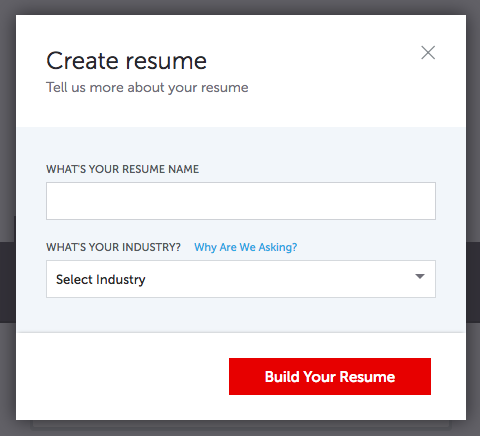 Give Your Resume An Appropriate Title And Industry And Click Build Your  Resume  Creating Resume