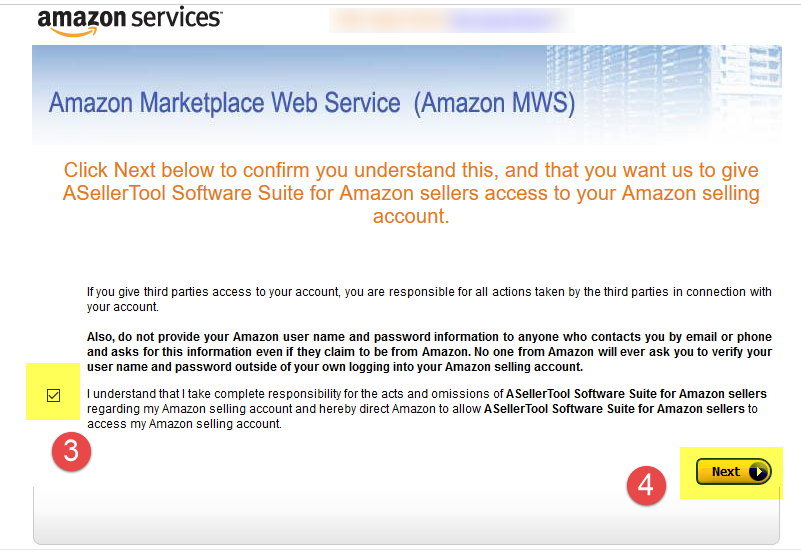 Sign up (Sync) Amazon MWS Account with ASellerTool - ASellerTool