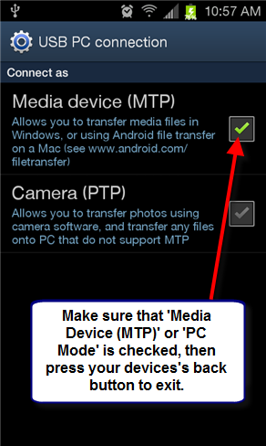 Android MTP Connection, Part 2