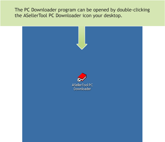 PC Downloader Icon on Desktop