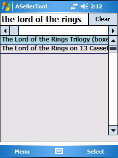 Title Search Screen PDA