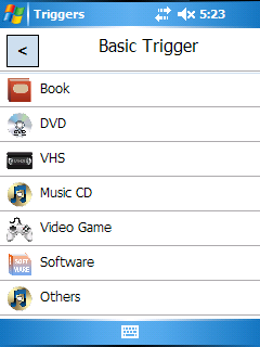 Basic Trigger Category Select on PDA