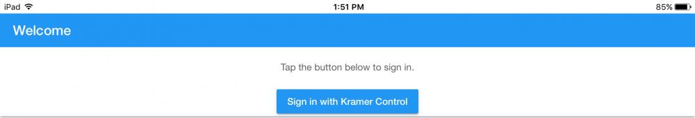 Provisioning - Kramer Control - 1
