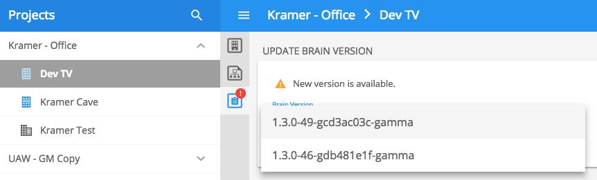 Remote Brain Updates - Kramer Control - 1