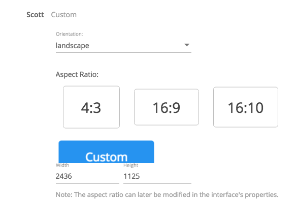 Custom UI Ratio - Kramer Control - 1