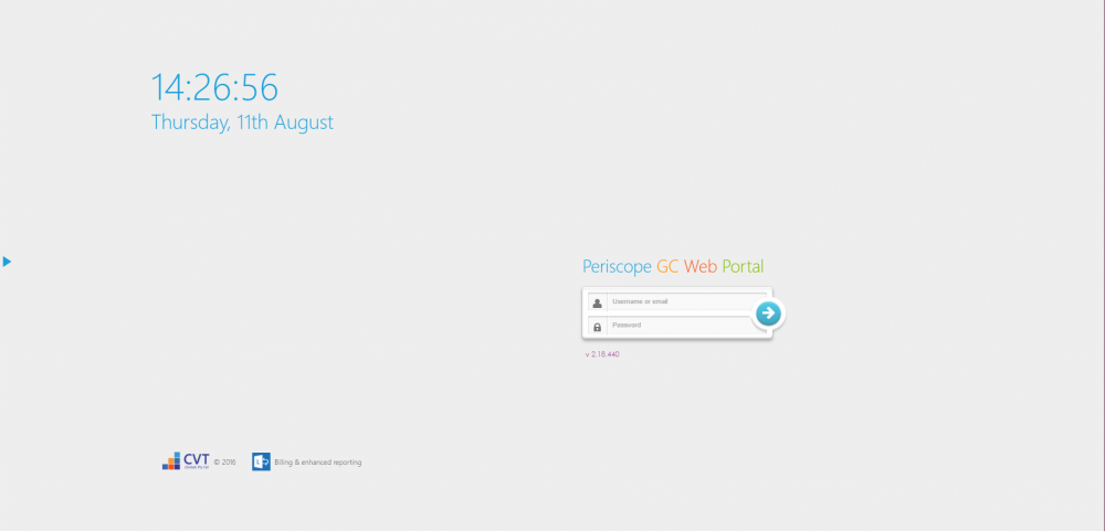 Periscope Login Page