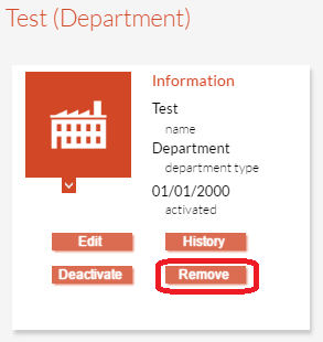 Removing a Department