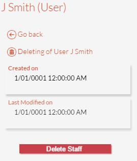 Delete Staff Panel