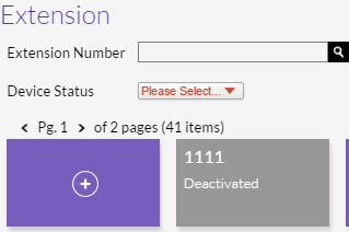 Deactive Extension on the Extensions Page