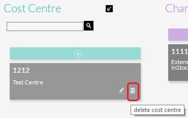 Delete Cost Centre
