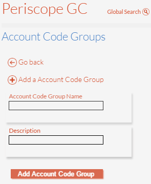 Add Account Code Group Details