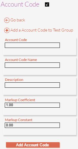 Account Code Details
