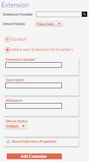 Add Extension Panel