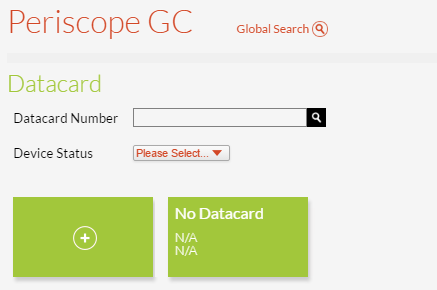 Datacard Page