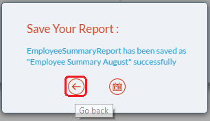 Go back to report button