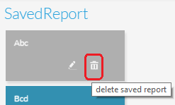 Delete Report icon