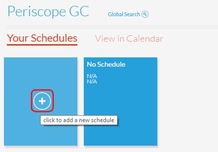 Add New Scheduled Report
