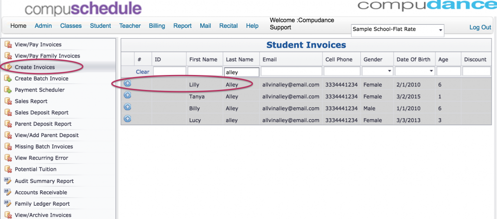 Create Single Invoice Compudance Online Helpdesk - Create invoice email